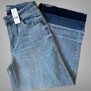 NY&C High-Waisted Wide-Leg Crop Jeans Size 6
